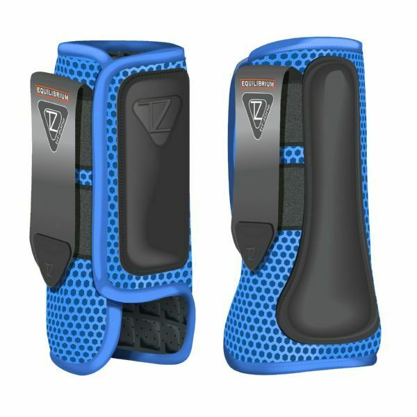 Equilibrium Products New Tri-Zone Impact Sports Boots Front and Hind bluee