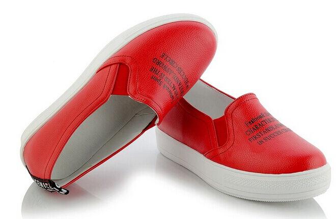 Bailarinas mocasines zapatos de mujer pan la tierra rojo como piel cómodo 9173