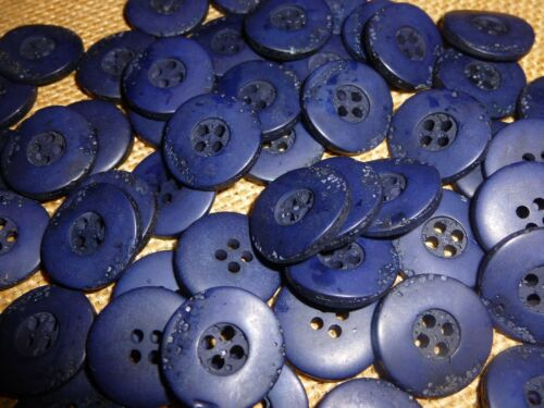 MB108 100 x Navy Rustic Look Matt Finish 20mm 4 Hole Good Quality Buttons