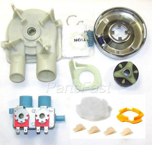 Whirlpool washer pump clutch coupler agitator dogs cam water valve kit - Whirlpool washer clutch replacement ...