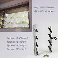 Jalousie Window Frame Aluminum 6mm Glass 3 4 5 6 Panels