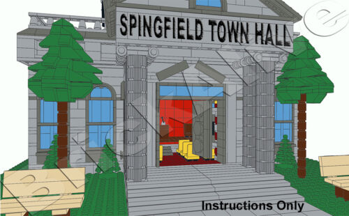 INSTRUCTION PDF ONLY Town Hall LEGO SIMPSON  Mairie NO BRICK CD