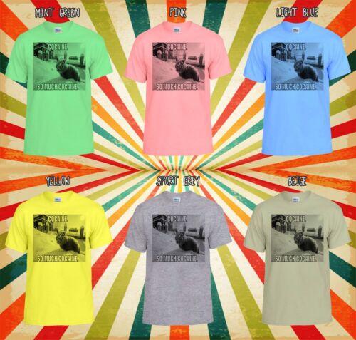 Cocaine Cat Kitten Meow Funny Cool Men Women Vest Tank Top Unisex T Shirt 1197