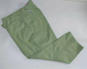 Nuevo Sin Etiquetas Mujer Dentro De Pana Verde Menta 100 Algodon Pantalones De Terciopelo Para Mujer Talla 34w Ebay