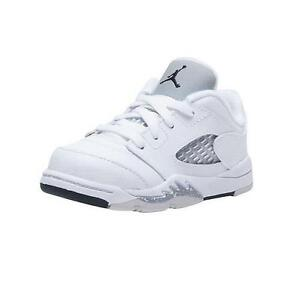 timeless design 86578 6f26e Details about AIR JORDAN 5 RETRO LOW GT TODDLER 819174 122 WHITE/BLACK-WOLF  GREY - LEATHER