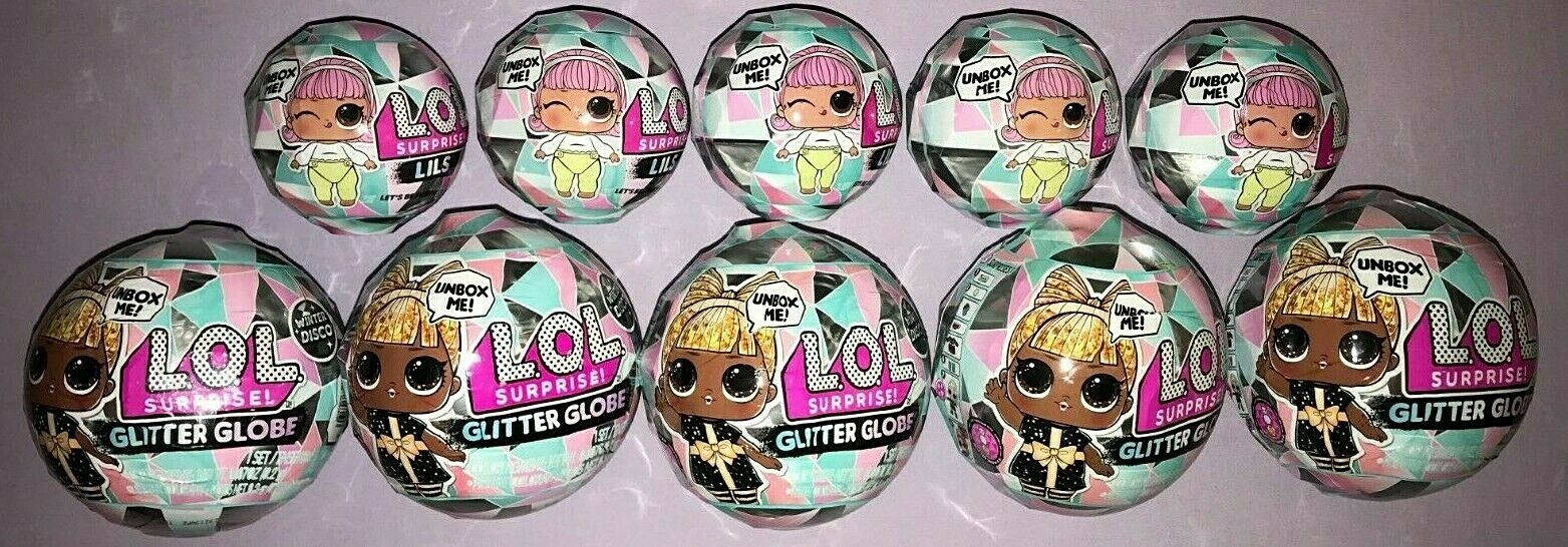 LOL SURPRISE WINTER DISCO LILS & GLITTER GLOBE  LOT OF 10 NEW