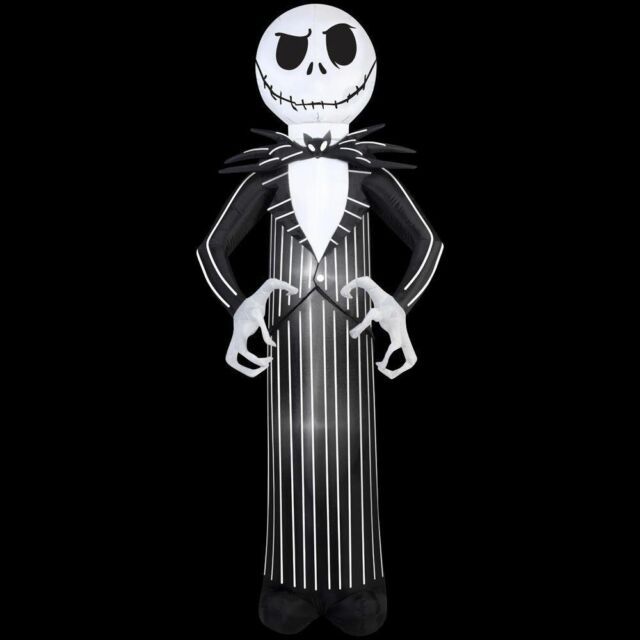 gemmy inflatable jack 7 ft from nightmare before christmas airblown lighted - Nightmare Before Christmas Inflatable Lawn Decorations