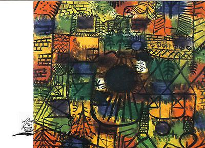 Kunstpostkarte - Paul Klee: Komposition Mit Schwarzem Brennpunkt Duftendes (In) Aroma