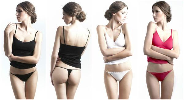 Uniconf 1-oder 4-er Pack Damen String Tangas Slips Unterhosen mit Spitze Dessous