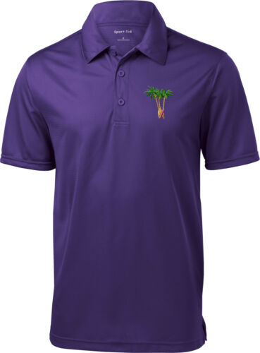 Buy Cool Shirts Palm Tree Patch Pocket Print Textured Polo