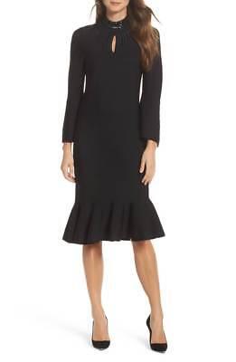 Zoe Womens Cloud Nine Gray Asymmetric Daytime Midi Dress XS BHFO 1995 Nic