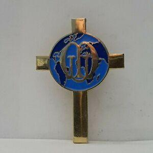 Catholic-Union-of-Mothers-Cross-crucifix-shaped-badge-40-29mm