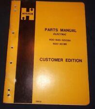 Hyster N30ba N40ba N50ba N30br N40br Electric Forklift Parts Manual Book Catalog