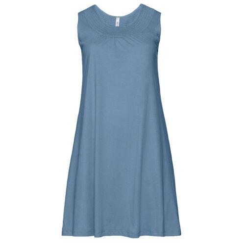 genial KLEID SOMMERKLEID Gr.48//50 SHIRTKLEID STRANDKLEID Blau 100/% Baumwolle