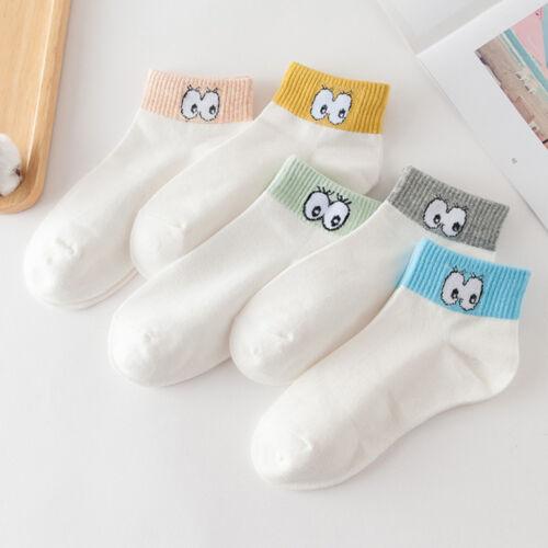 Cartoon Cute Eyes Women Sock Lady Cotton Short Sock Spring Summer Ankle Sock