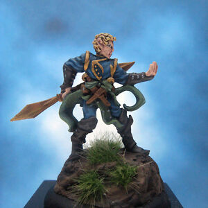 Painted-Chainmail-Miniature-Grey-Elf-Duelist