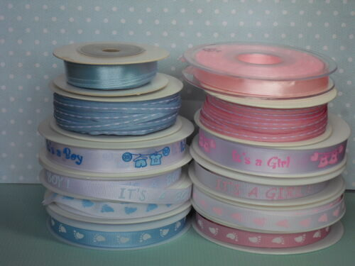 Grosgrain /& Satin Choice of Colour /& Style Baby Ribbon
