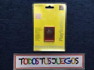 Memory-Card-Rojo-Carmesi-Memoria-Playstation-2-Original-PRECINTADO