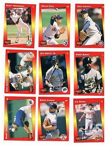 Details About 1992 Donruss Triple Play Baseball Cards Complete Set Of 264 Cards Plus Check Off