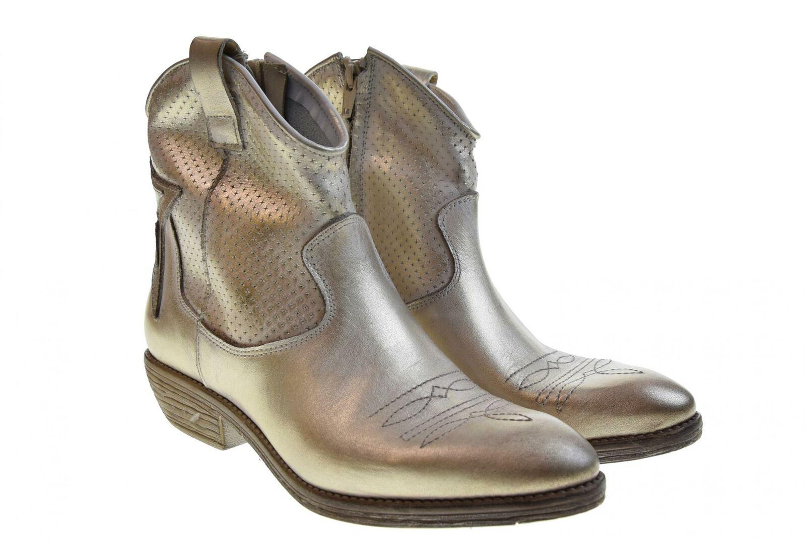 alta qualità e spedizione veloce Erman's scarpe donna stivaletto stivaletto stivaletto texano WEST oro P19  seleziona tra le nuove marche come