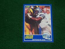 jacob green  (seattle seahawks-de) 1989 score card #107  mint condition