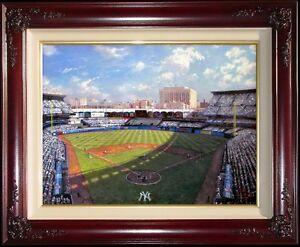 Thomas-Kinkade-DBL-SGND-Yankee-Stadium-25-x34-Gallery-Proof-G-P-Baseball-Canvas