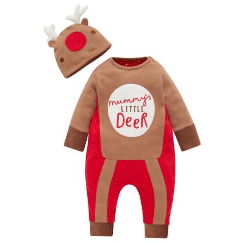 Weihnachten Neugeborene Baby Kinder Spielanzug Overall Bodysuit Kleidung Sets