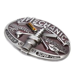 Retro-Carpenter-Mechanic-Men-039-s-Belt-Buckle-Metal-Alloy-Western-Cowboy-CowgirAUIT