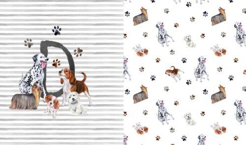 Panel Jersey Stoff Dog Hund Kinderstoff 0,70m x 1,50m