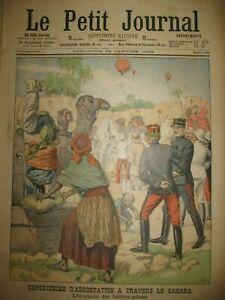 SAHARA-AEROSTAT-LANCEMENT-BALLONS-PILOTES-AFRIQUE-DU-SUD-PETIT-JOURNAL-1903