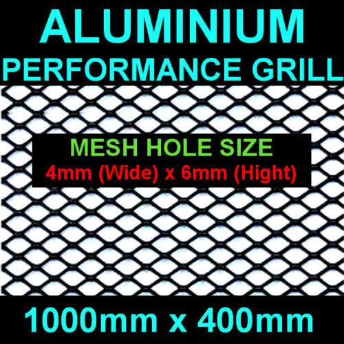 KIA HYUNDAI ISUZU LEXUS PORSCHE ALUMINIUM BLACK MESH GRILL 40x100cm Hole 4x6mm