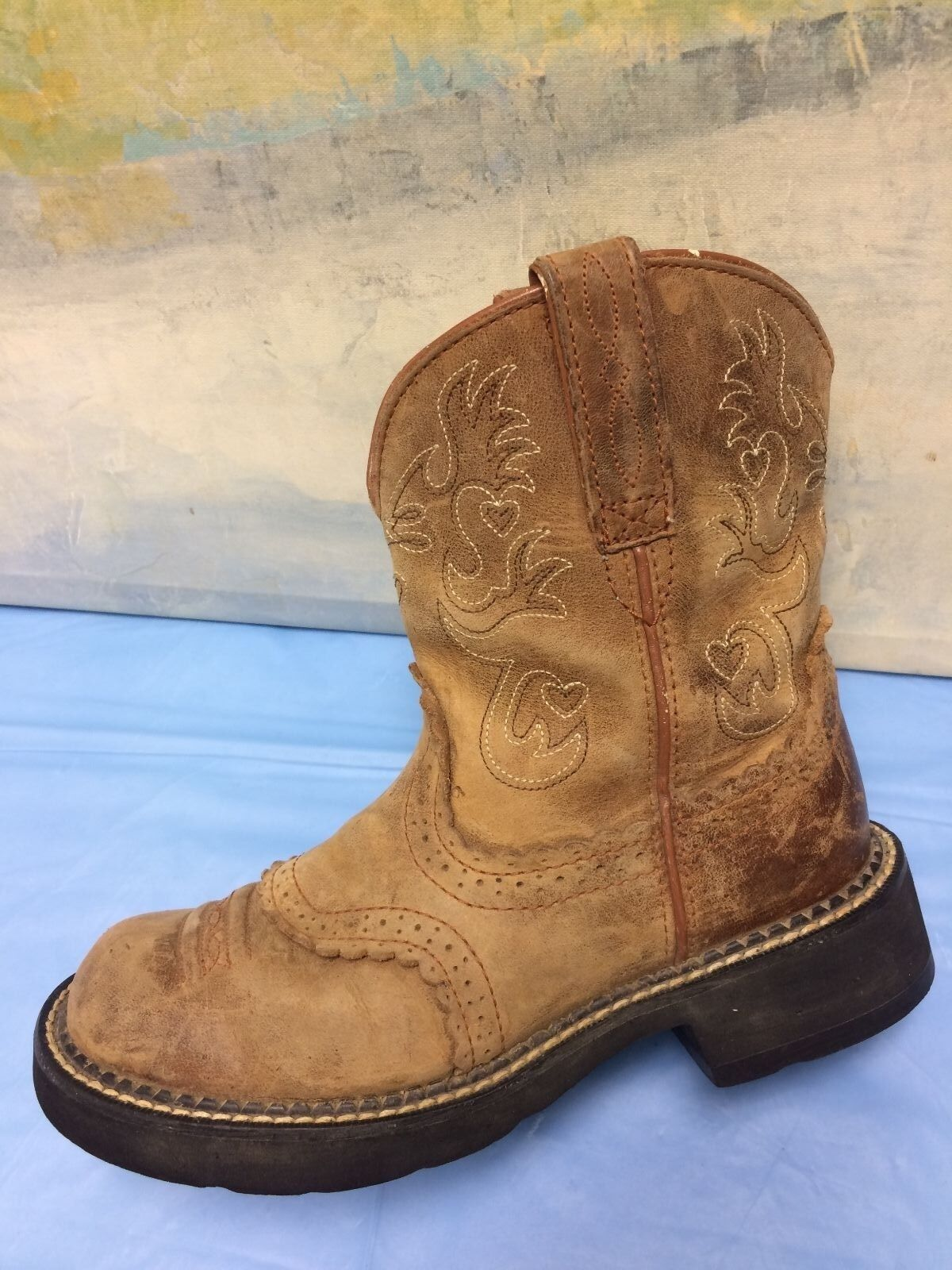 ARIAT Fatbaby marron Western Cowboy bottes •Taille 6.5 B