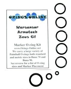 Warsensor-Armotech-Zeus-G1-Paintball-Marker-O-ring-Oring-Kit-x-4-rebuilds-kits