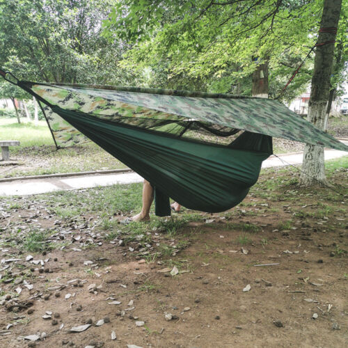 Outdoor Mosquito Net Nylon Camping Hammock Waterproof Sun Shelter Fly Tent Tarp