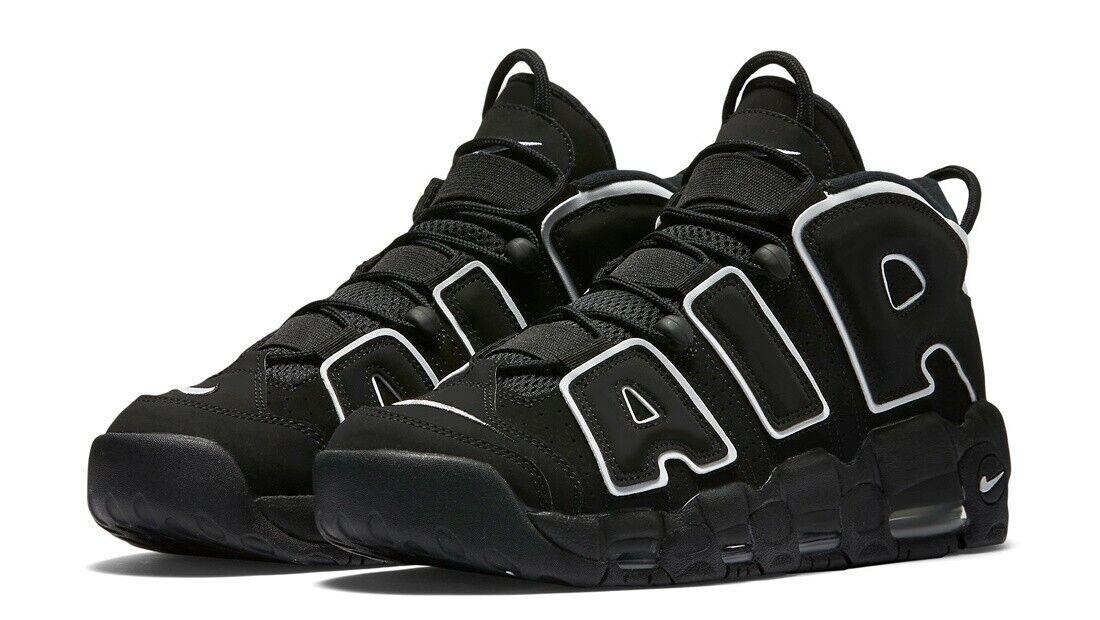 Nike MEN'S Air More Uptempo Black White SIZE 12 BRAND NEW BLACK WHITE OG PIPPEN
