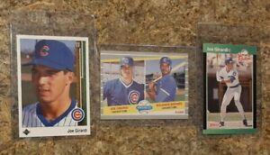 (3) Joe Girardi 1989 Upper Deck Donruss Fleer Rookie Card Lot RC Cubs Yankees