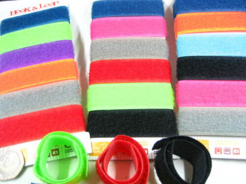 6pcs of reusable 17cm hook and loop cable ties straping small binding wire strap