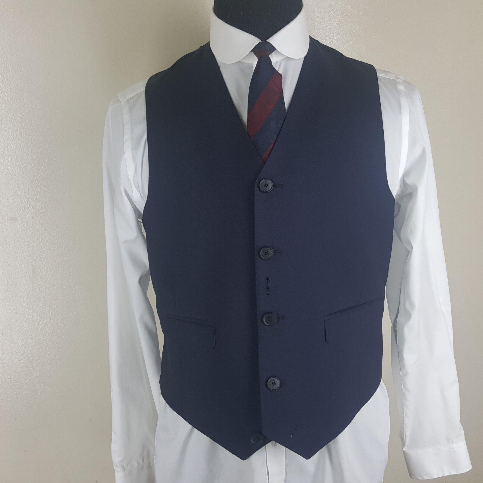 9f5efddb1 PAUL New Rare Recent Dark Blau 5 Btn Wool & Mohair Vest 40 Reg SMITH ...
