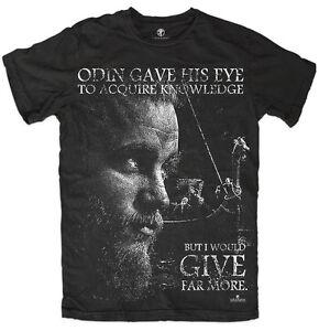 4db9e1a6 T-shirt Vikings Ragnar Lothbrok History Tv Show Inspired Viking Odin ...