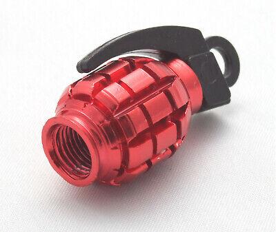4 Stück Handgranate Ventilkappen Rote Granate Farbe: Rot Auto Pkw Motorrad Vhgr Weder Zu Hart Noch Zu Weich