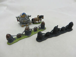Warhammer-Dwarf-pony-cart-and-barriers-army-lot