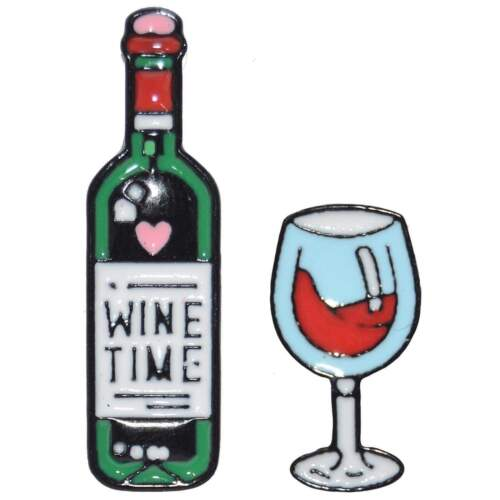 Wine Time Enamel Pin Badge Pin Up Alcohol Badge Brooch Drink Aussie Seller