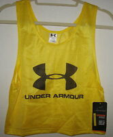 Under Armour - - Boy's Yellow - Loose Fit Soccer Vest - Youth Medium