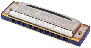 """Hohner 595BX-C Blue Midnight MS Harmonica, Key of C, """"Chicago Style"""" Tuning"""
