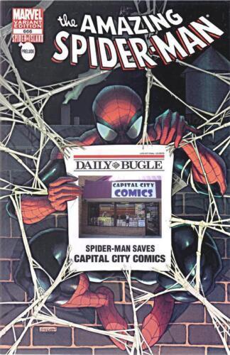 AMAZING SPIDERMAN 666 RARE CAPITAL CITY COMICS BUGLE VARIANT NM SPIDER ISLAND