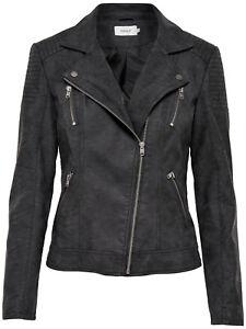 09fab78051f8 ONLY Damen Jacke Onlsteady Faux Leather Biker CC Otw, Schwarz (Black ...