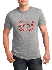 Mickey-Hands-Heart-T-Shirt-Valentine-039-s-Day-Boyfriend-Gift-Anniversary-Love-Cupid