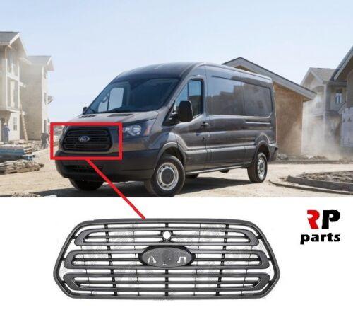 Per FORD TRANSIT 2014-2018 Nuovo Centro Paraurti anteriore griglia Badge Nero N.