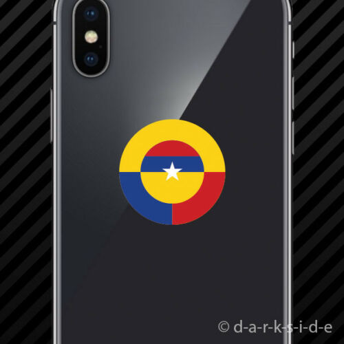 Colombian Air Force Roundel Cell Phone Sticker Mobile FAC Colombia COL CO 2x