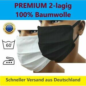 Mundmaske Gesichtsmaske Baumwolle Maske Mund-Nasen-Bedeckung 2-lagig Waschbar